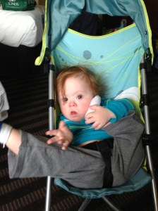 T squirming in stroller 3-13