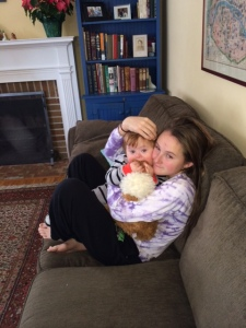 T and cat on couch 12-13