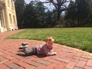 t lying on sidewalk