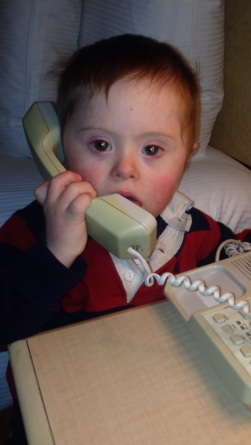 T on phone